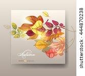 autumn background. vector eps... | Shutterstock .eps vector #444870238