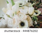 wedding bouquet of white... | Shutterstock . vector #444876202