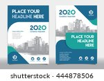 blue color scheme with city... | Shutterstock .eps vector #444878506