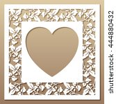 openwork square frame with... | Shutterstock .eps vector #444880432