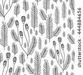 seamless floral pattern... | Shutterstock . vector #444884656