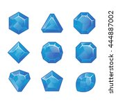cartoon vector  blue gems and...