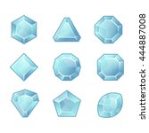 cartoon vector blue gems and... | Shutterstock .eps vector #444887008