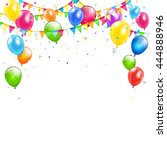 set of colorful balloons ... | Shutterstock .eps vector #444888946