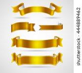 vector ribbons set | Shutterstock .eps vector #444889462