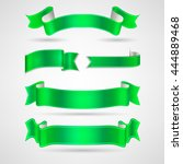 vector ribbons set   Shutterstock .eps vector #444889468