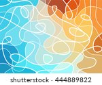 abstract geometric mosaic... | Shutterstock .eps vector #444889822