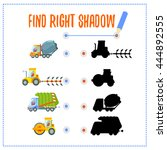 educational game.match each car ... | Shutterstock .eps vector #444892555