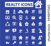 realty icons | Shutterstock .eps vector #444895342