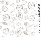seamless exotic fruit pattern...   Shutterstock .eps vector #444896152