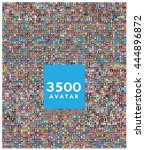 set of 3500 color diferent... | Shutterstock .eps vector #444896872