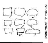 speech bubble hand drawing... | Shutterstock .eps vector #444900622