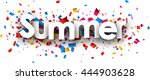 summer paper banner with color... | Shutterstock .eps vector #444903628