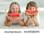 Funny Kids Eating Watermelon....