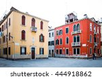 traditional street view of old... | Shutterstock . vector #444918862