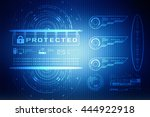 security concept  lock on... | Shutterstock . vector #444922918