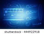 security concept  lock on... | Shutterstock . vector #444922918