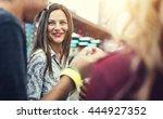 friends fun happiness amusement ... | Shutterstock . vector #444927352