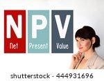 npv. net present value. finance ... | Shutterstock . vector #444931696