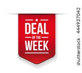 deal of the week red ribbon... | Shutterstock .eps vector #444937042