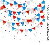 Red  White And Blue Party Flag...