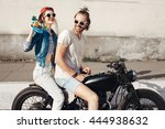 young female model holding... | Shutterstock . vector #444938632