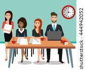 business people in training... | Shutterstock .eps vector #444942052