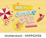 summer sale background design... | Shutterstock .eps vector #444942436