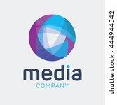 abstract globe logo template | Shutterstock .eps vector #444944542