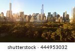 aerial view of modern city... | Shutterstock . vector #444953032