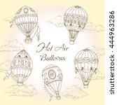 background with hot air... | Shutterstock . vector #444963286