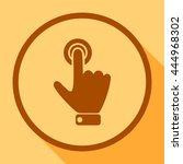 hand presses the index finger... | Shutterstock .eps vector #444968302
