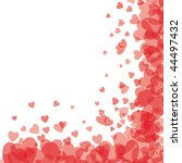 red transparent hearts | Shutterstock .eps vector #44497432