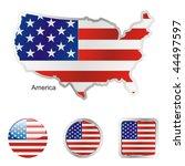 fully editable vector flag of...   Shutterstock .eps vector #44497597