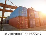 container terminal | Shutterstock . vector #444977242