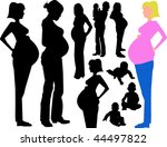 Silhouette Pregnant Moms And...