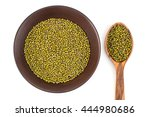 green peas on the plate and... | Shutterstock . vector #444980686