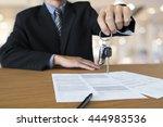 business concept  car insurance ... | Shutterstock . vector #444983536