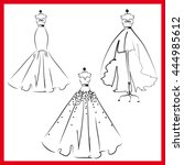 dress design | Shutterstock . vector #444985612