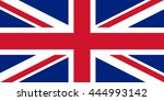 flag of united kingdom. vector... | Shutterstock .eps vector #444993142