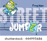 frog skater cartoon.print...
