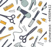 hairdresser tools hand drawn...