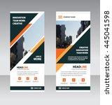 orange black triangle business... | Shutterstock .eps vector #445041598