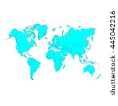 world map. vector illustration.  | Shutterstock .eps vector #445042216