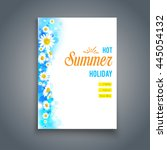 beautiful summer blank with...   Shutterstock .eps vector #445054132