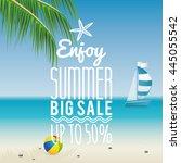 summer sale label | Shutterstock .eps vector #445055542