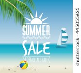 summer sale label | Shutterstock .eps vector #445055635