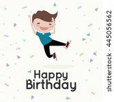 happy birthday card | Shutterstock .eps vector #445056562