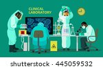 clinical laboratory. vector... | Shutterstock .eps vector #445059532