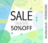 sale and special offer modern... | Shutterstock .eps vector #445060282